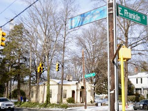 A left turning traffic light was installed at the intersection of Raleigh Street and East Franklin Street.
