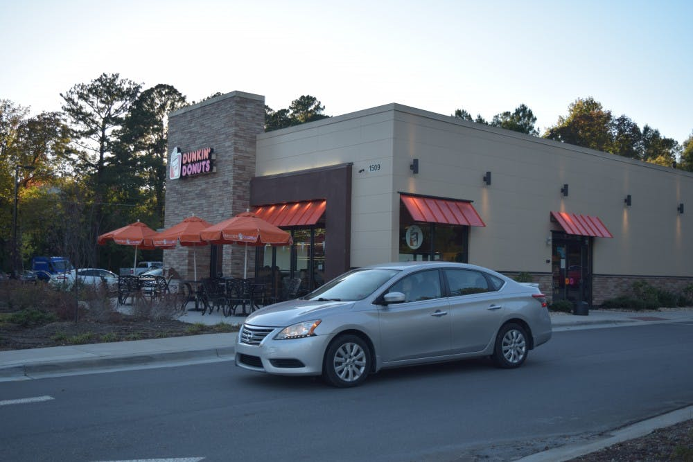 The Dunkin' Donuts on 1509 Franklin St. on Oct. 29, 2018. This location is in the process of getting a drive thru approved. An employee said that the store has attempted multiple times since they opened but they haven't been successful.