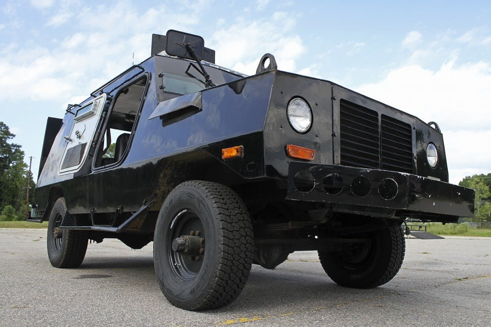 Local police forces explain surplus military equipment - The