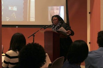 Dr. Taffye Benson Clayton, Associate Vice Chancellor and Chief Diversity Officer, was the keynote speaker for Catalyst, a social justice conference for North Carolina high school students, on Saturday in gerrard hall.