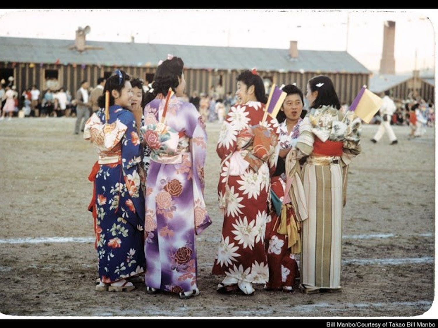 Bill Manbo's photographs were found by Eric Muller, a UNC law professor, and depict Japanese-American culture as opposed to the typical propaganda photos of the time period.