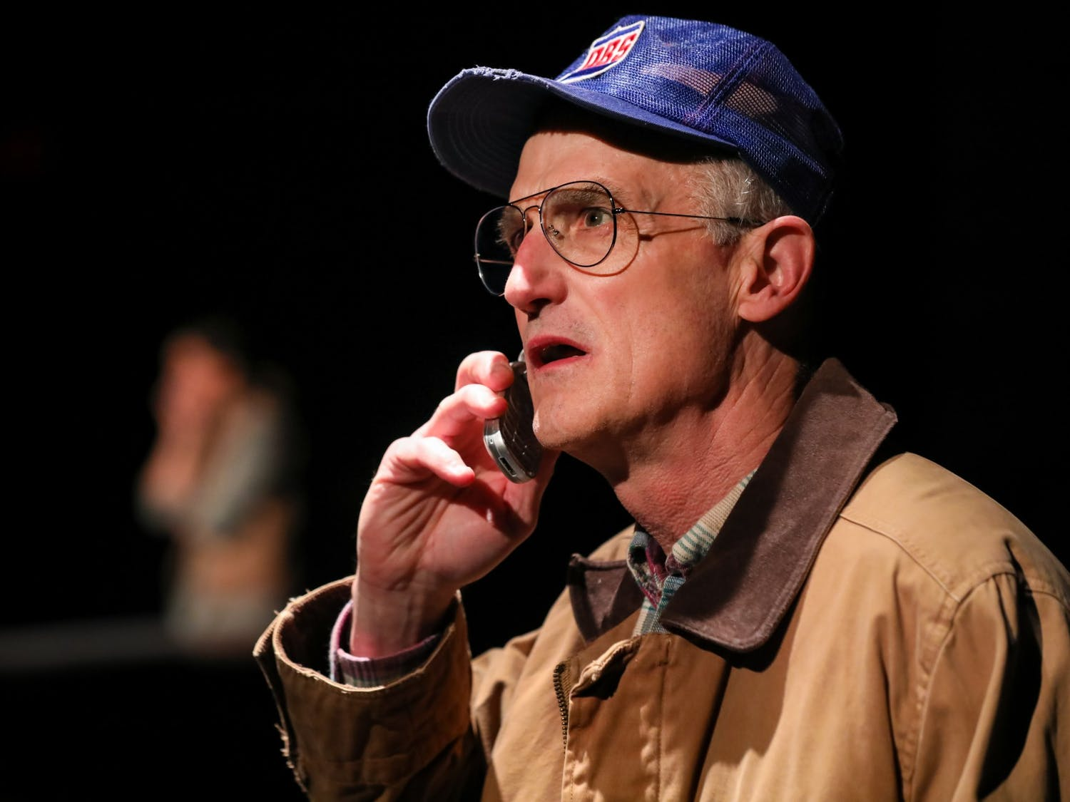 """Ray Dooley performing in """"Dairyland,"""" which marks his 100th production with PlayMakers Repertory Company. Photo courtesy of HuthPhoto."""