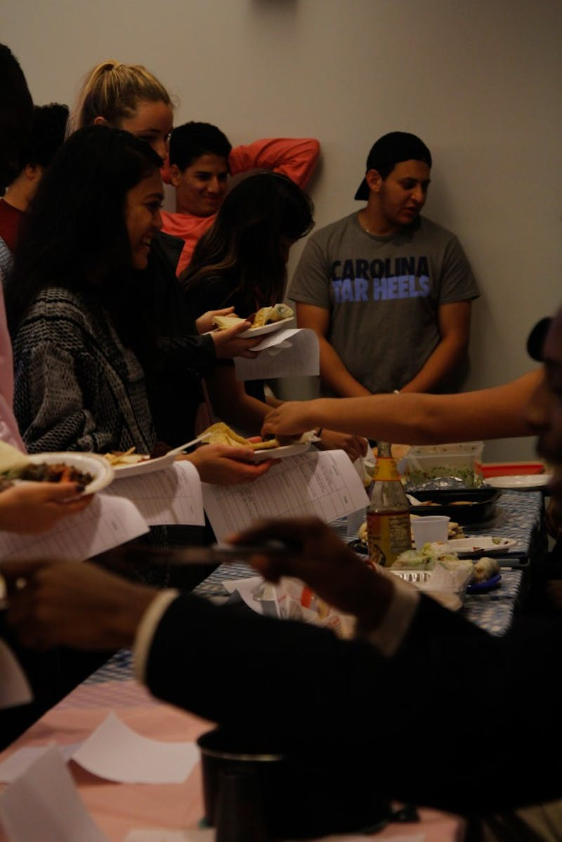 At the FedEx Global Center on Monday night, students in the Arabic Program hosted a friendly cooking competition and shared a large spread of both traditional Arabic dishes and other miscellaneous treats.
