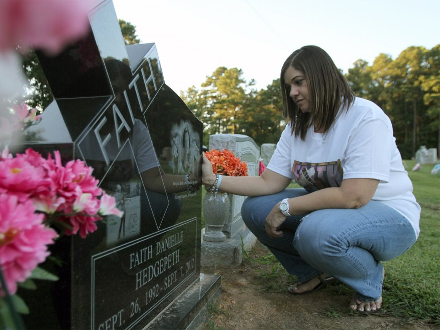 Rolanda Hedgepeth still visits her sister Faith's grave about 4 times a week.