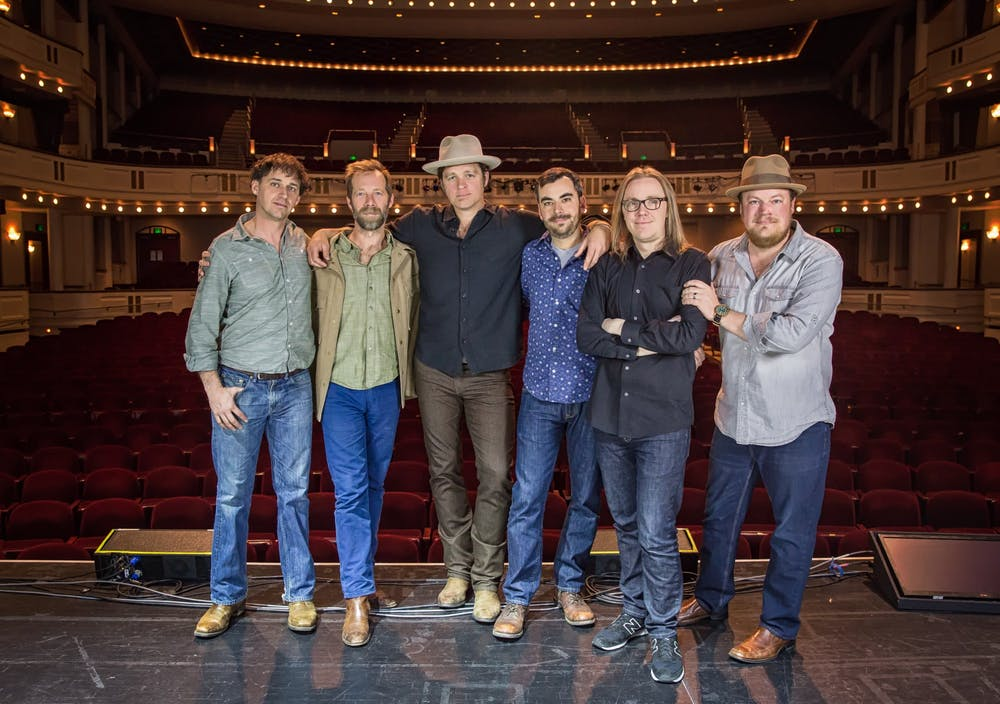 <p>Steep Canyon Rangers, a band formed by UNC alumni, has made waves in the bluegrass scene and earned three grammy nominations. Photo courtesy of Shelly Swanger.</p>