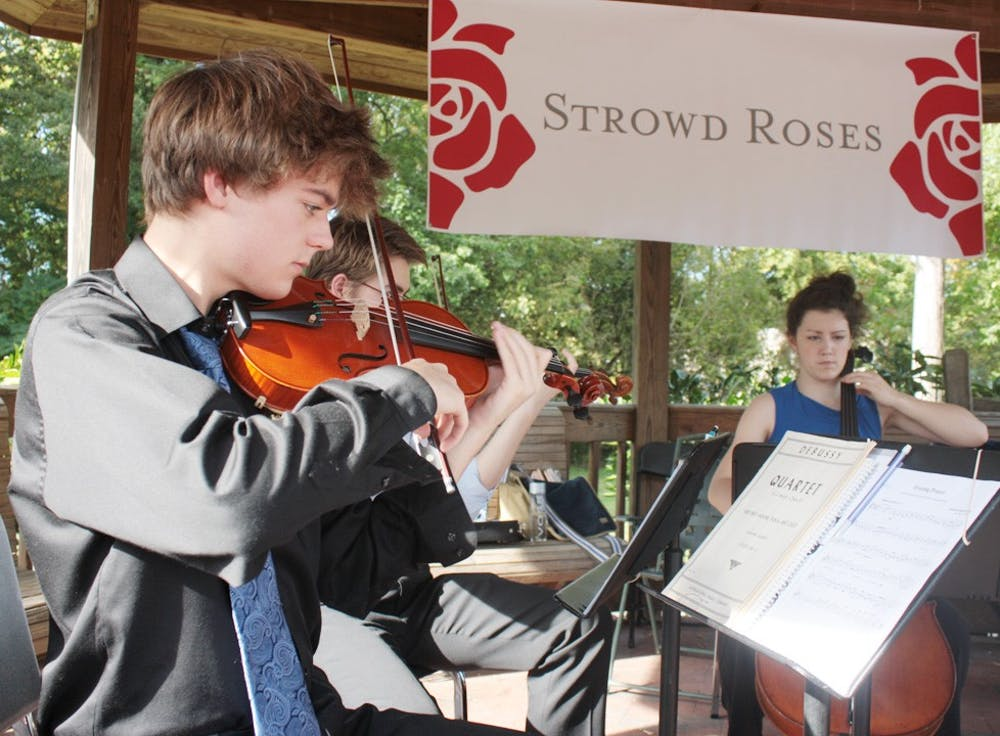 The Strowd Roses foundation celebrates 10 years of funding grants to different organizations in the Chapel Hill and Carborro area. The Youth Chamber Orchestra plays for the ceremony. carter Coleman and Drake Driscoll