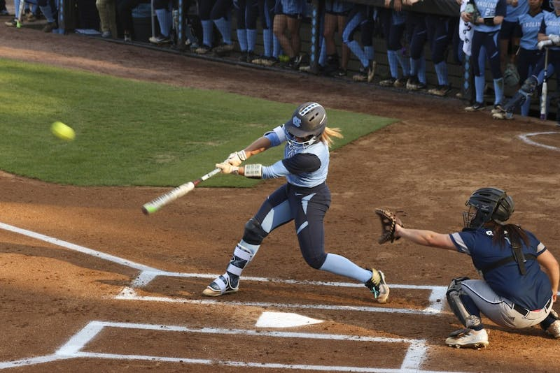 Senior Taylor Wike (7) hits against Longwood on April 10 at Anderson Stadium.