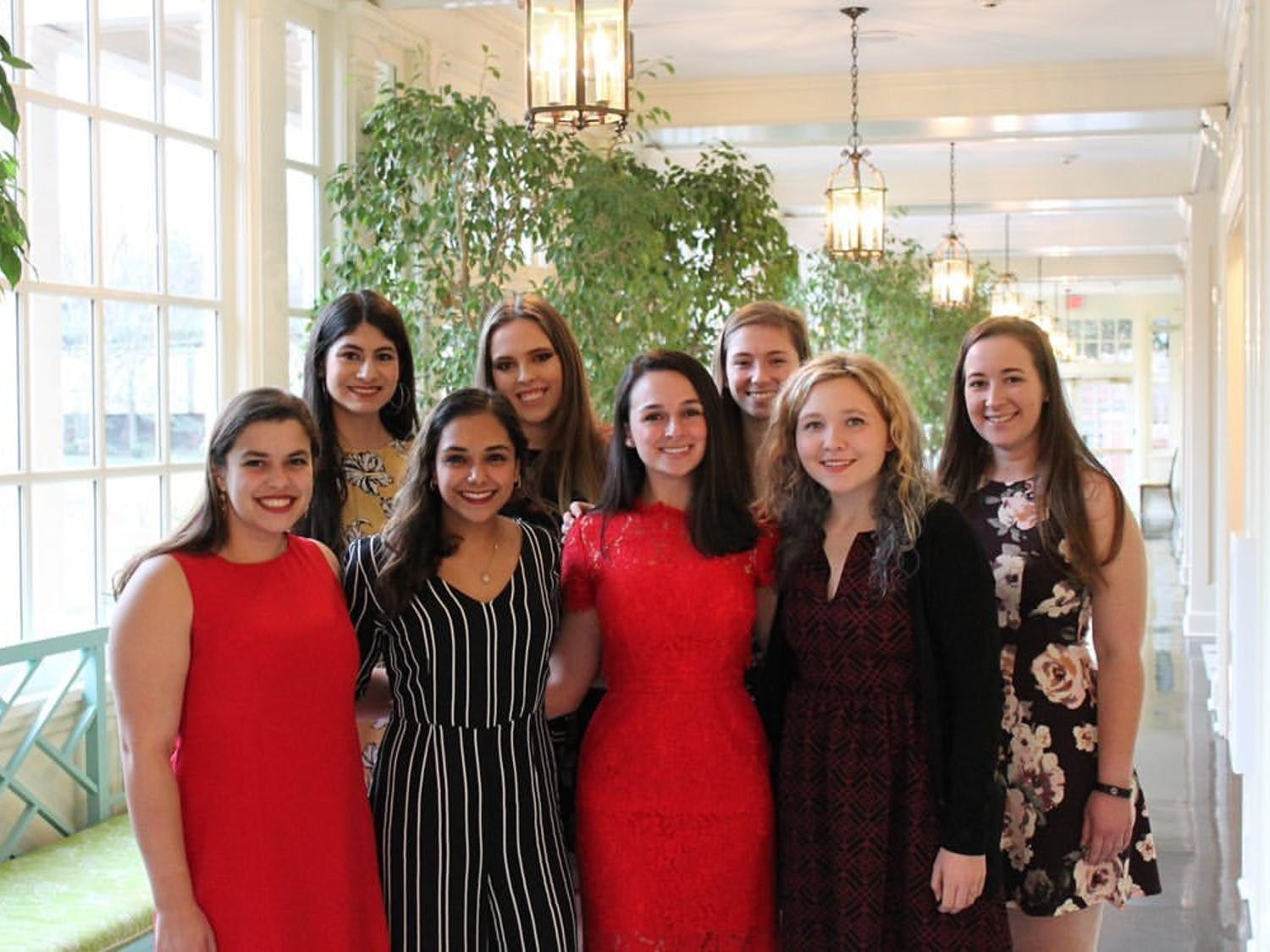 The She's the First executive team poses for a photo at last year's International Women's Day Tea. This year's event will occur at the Carolina Inn on Sunday. Photo courtesy of Alexandra Smith.