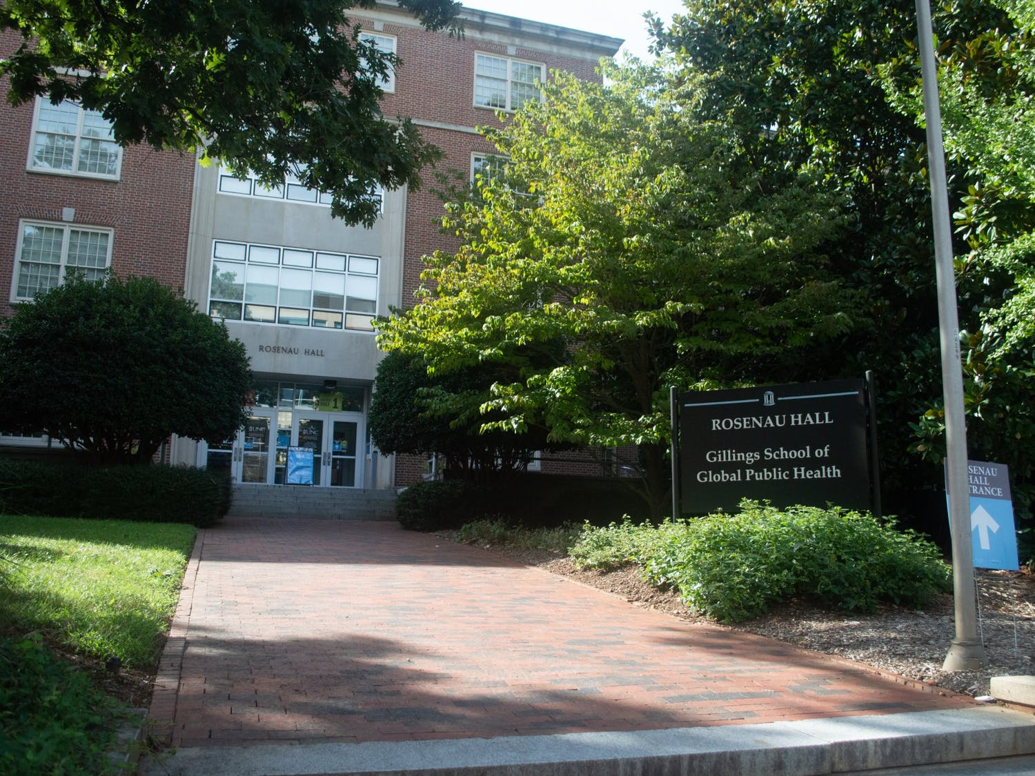 Rosenau Hall, home to the Gillings School of Global Public Health where many UNC students and faculty conduct on-campus research, as pictured on Thursday, Sept. 10, 2020.