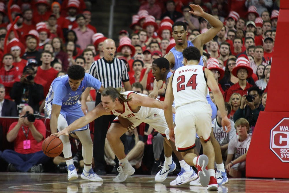 Turnovers nearly sink North Carolina in 90-82 victory over N.C. State