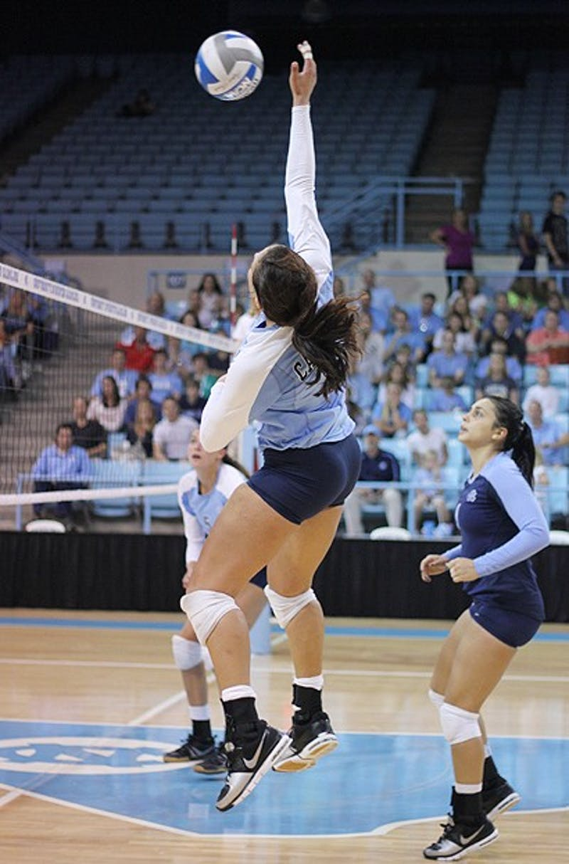 UNC beat Georgia Tech in Volleyball Sunday, September 30.