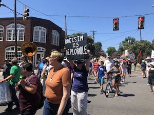 Hillsborough Progressives Taking Action and the Hate-Free Schools Coalition organized the March for a Hate-Free Hillsborough on Aug. 31, 2019.