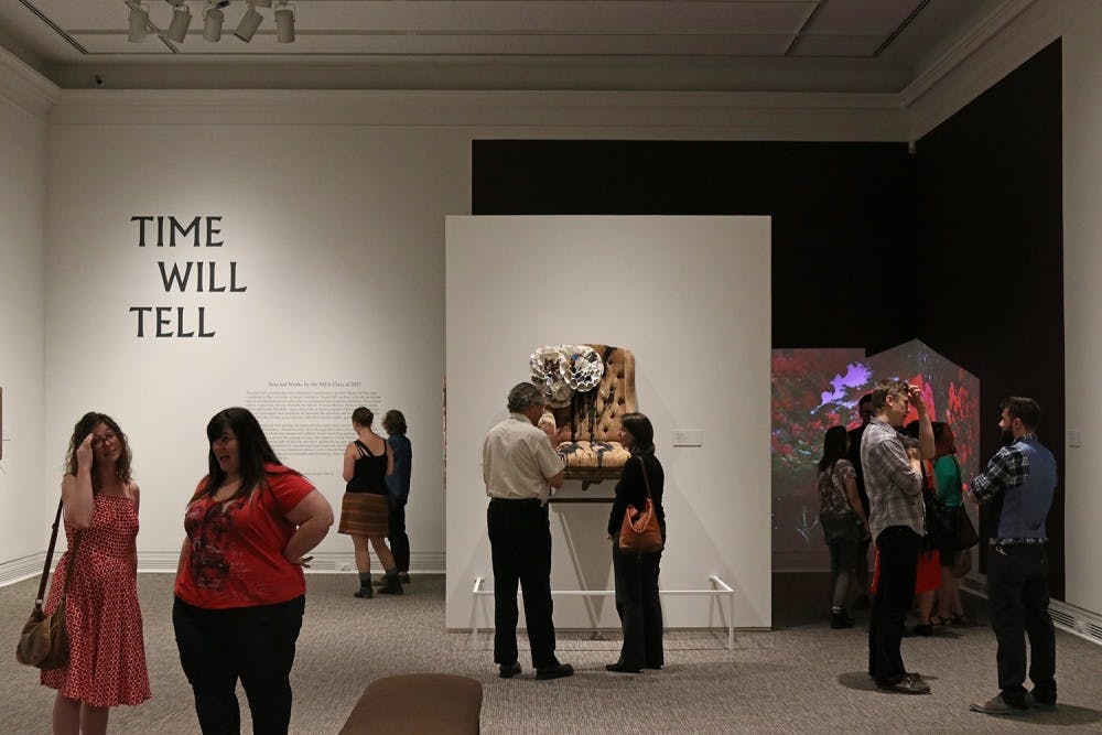 "<p>The new ""Time Will Tell"" exhibit at the Ackland opened Thursday. The exhibit features art from MFA Students at the university.&nbsp;</p>"