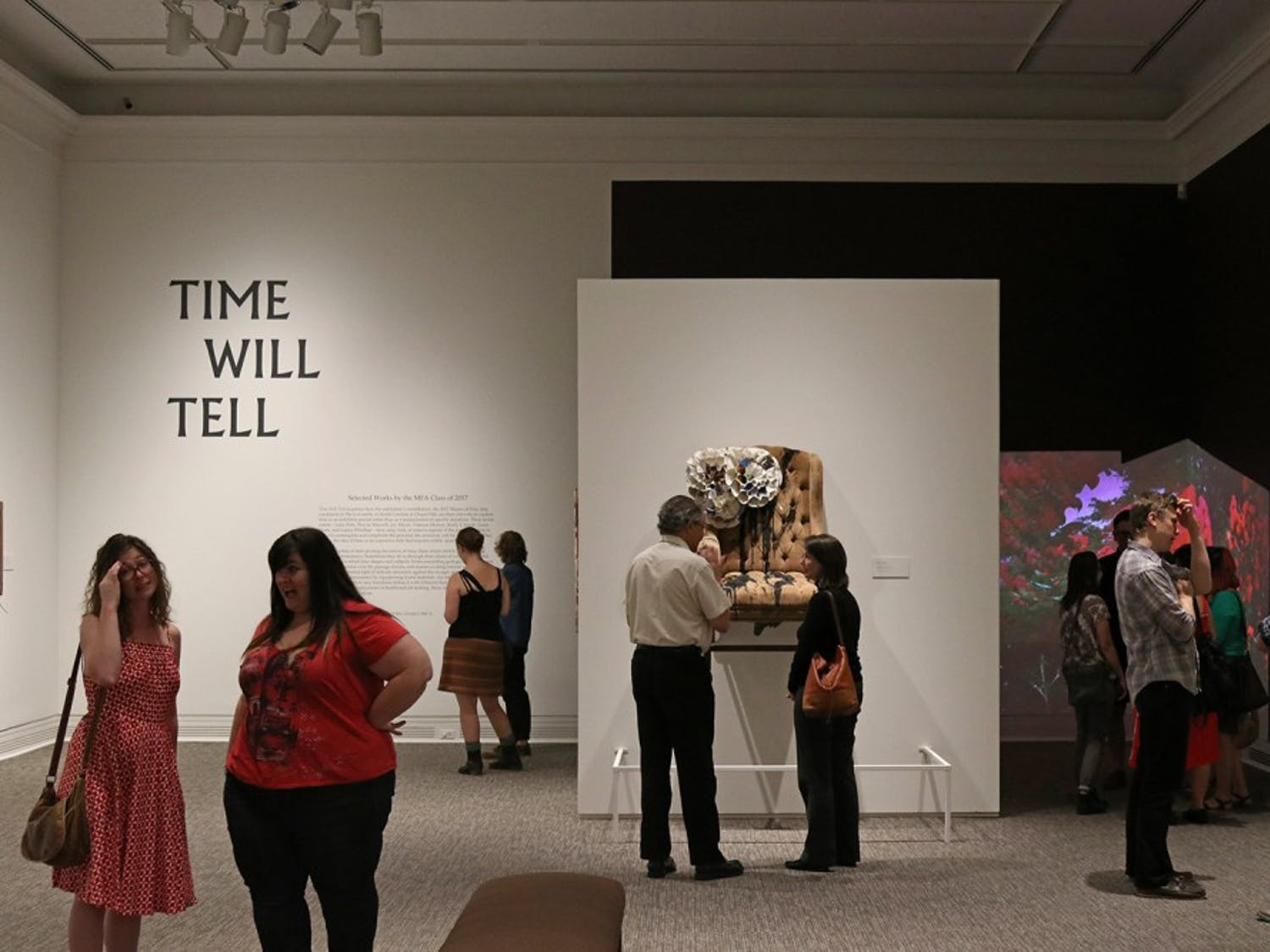 "The new ""Time Will Tell"" exhibit at the Ackland opened Thursday. The exhibit features art from MFA Students at the university."