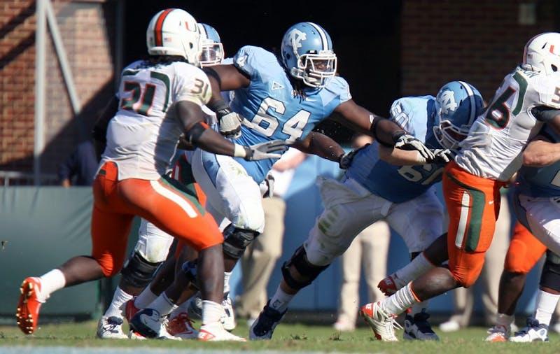 UNC lost to Miami 30-24 on Saturday, Oct. 15, 2011.