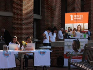 """The campus organization, Q for the Kids, put on a fundraiser to raise funds for the """"No Kid Hungry"""" project which is striving to alleviate hunger across North Carolina."""