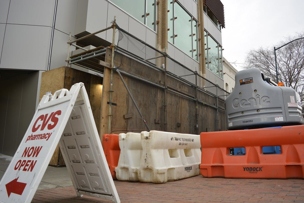 Franklin Street's CVS building has a new, modern exterior
