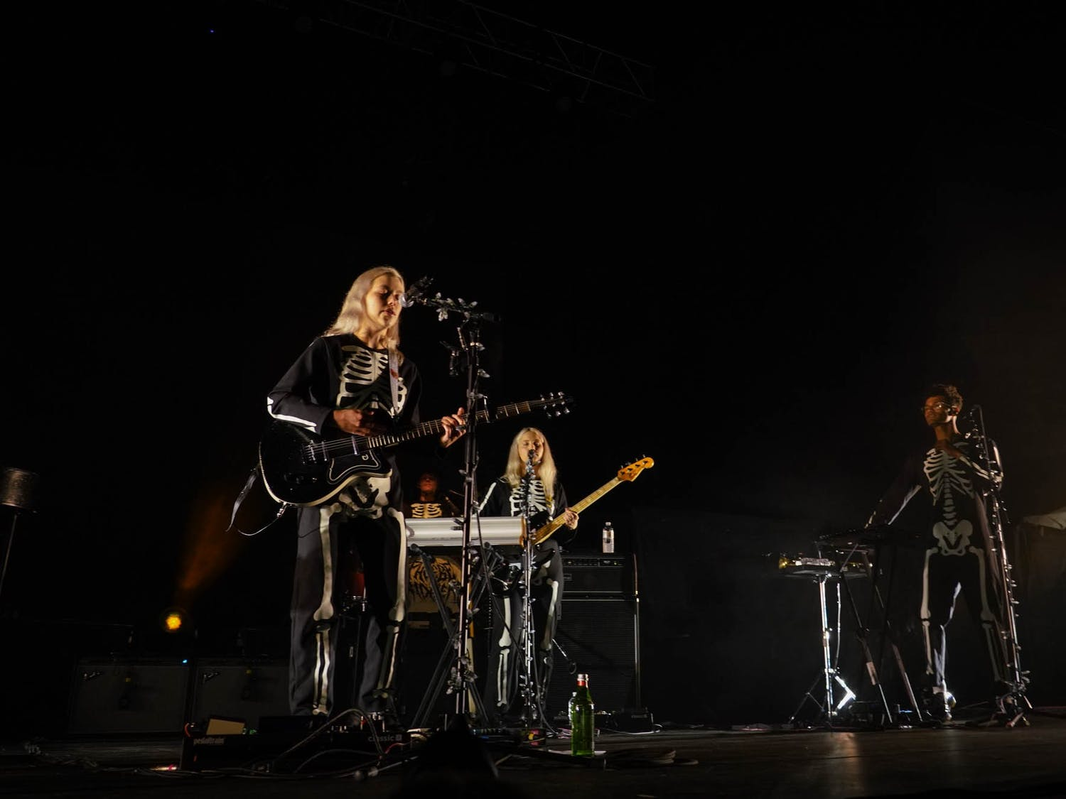 Phoebe Bridgers and her band perform a show at the Red Hat Ampitheater in Raleigh, NC, on Sept. 21, 2021.