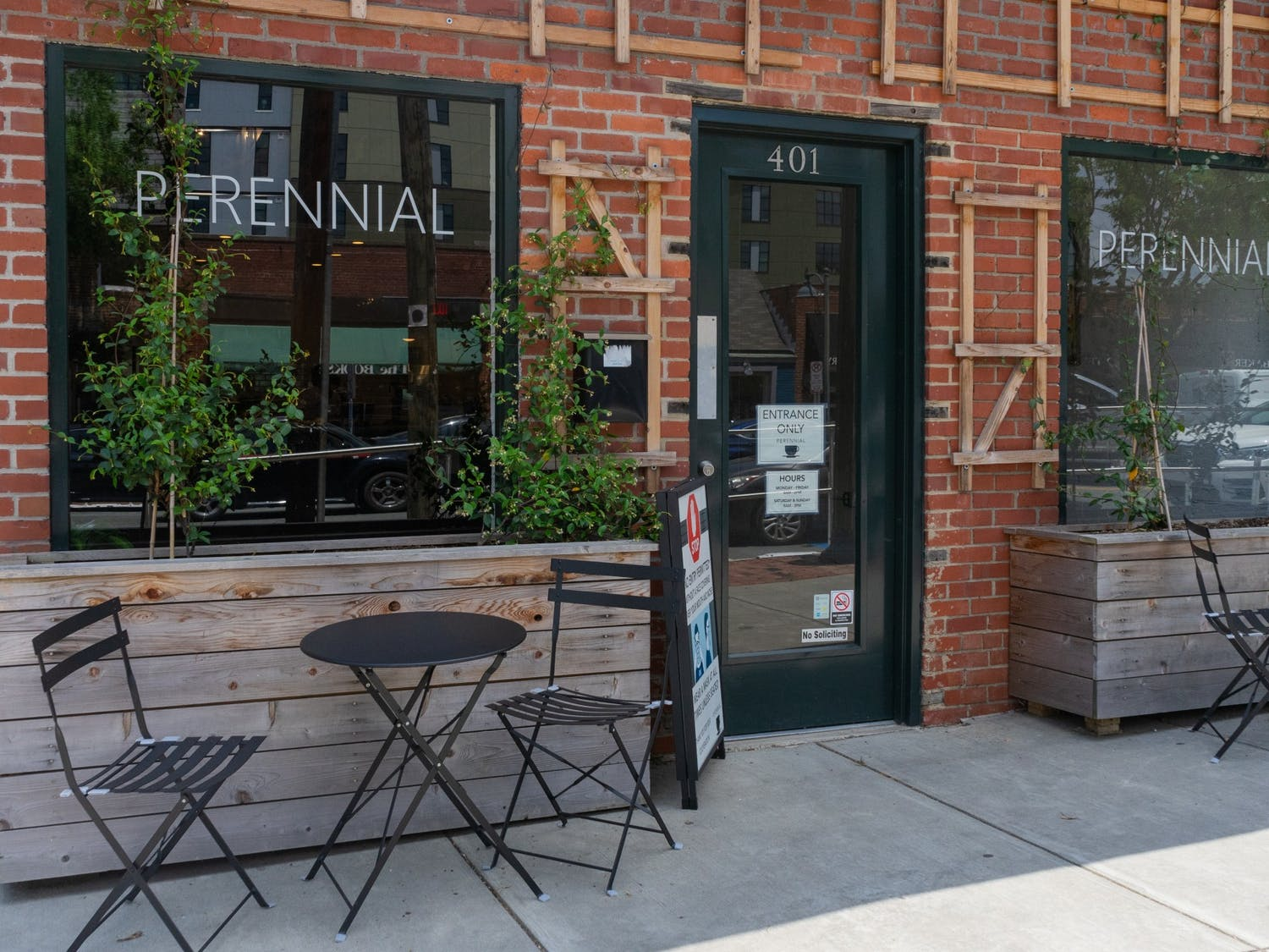 Perennial, a coffee shop on  Franklin Street, pictured on  Friday, May 28th, 2021, the day of their re-opening.
