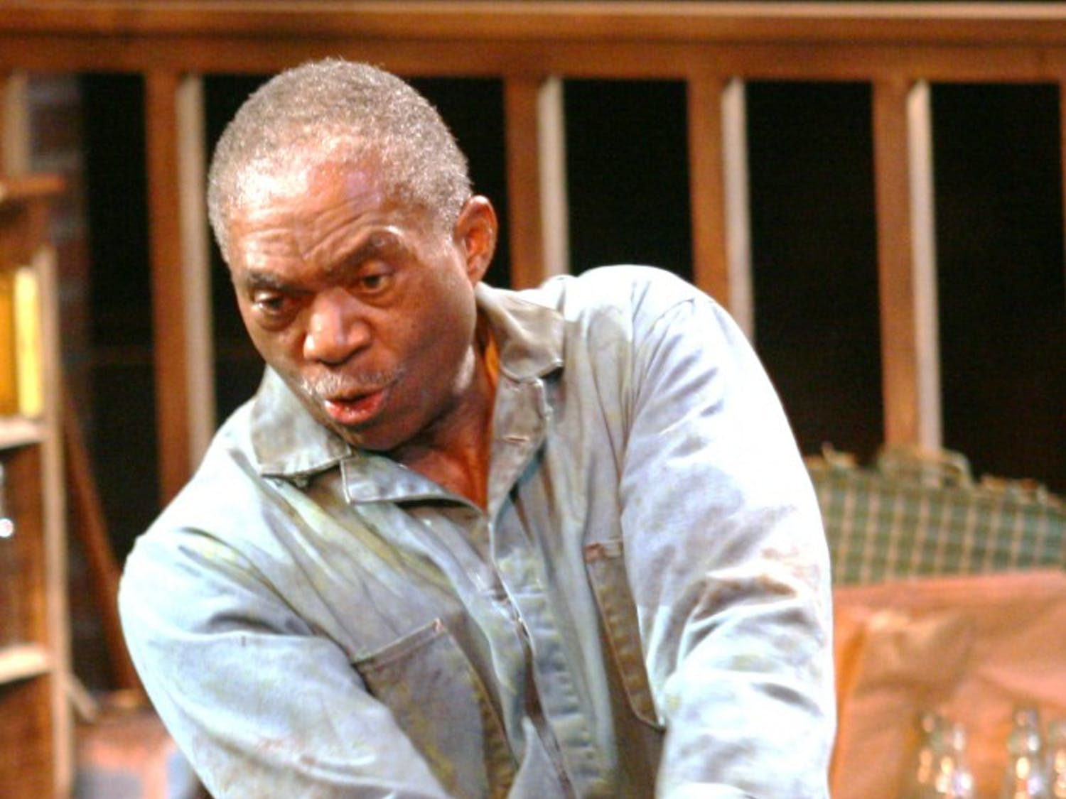 Charlie Robinson stars as Troy, a garbage man, in the play Fences at Paul Green Theatre. The play runs through November 14th.