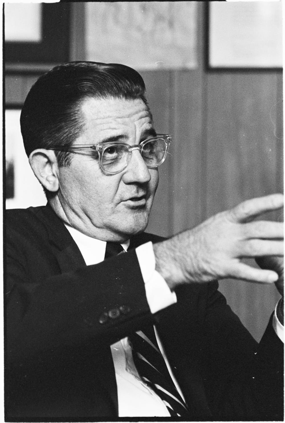 """William """"Bill"""" Friday passed away on October 12, 2012 at age 92. He was the <span class=""""caps"""">UNC</span> system president from 1956 to 1986.  Courtesy of Wilson Library."""