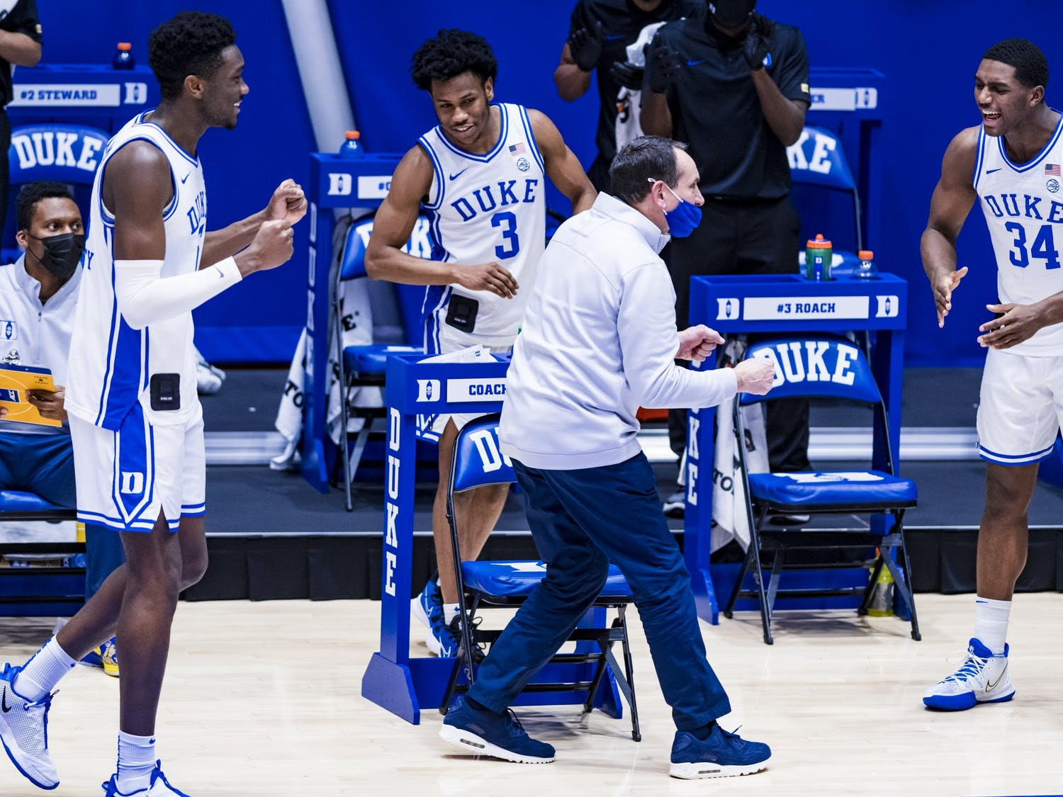 Duke Men's Basketball beats the Georgia Tech Yellow Jackets at the Cameron Indoor Stadium on January 26, 2020 at Durham, North Carolina. Photo courtesy of Natalie Ledonne.