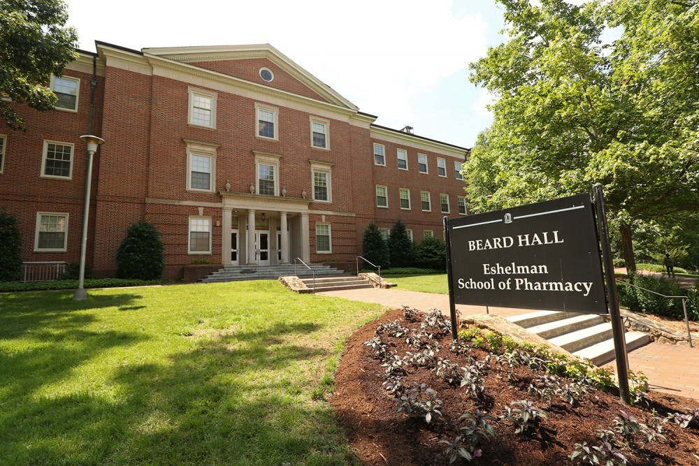 <p>Beard Hall of the Eshelman School of Pharmacy in 2016.</p>