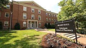 Beard Hall of the Eshelman School of Pharmacy in 2016.
