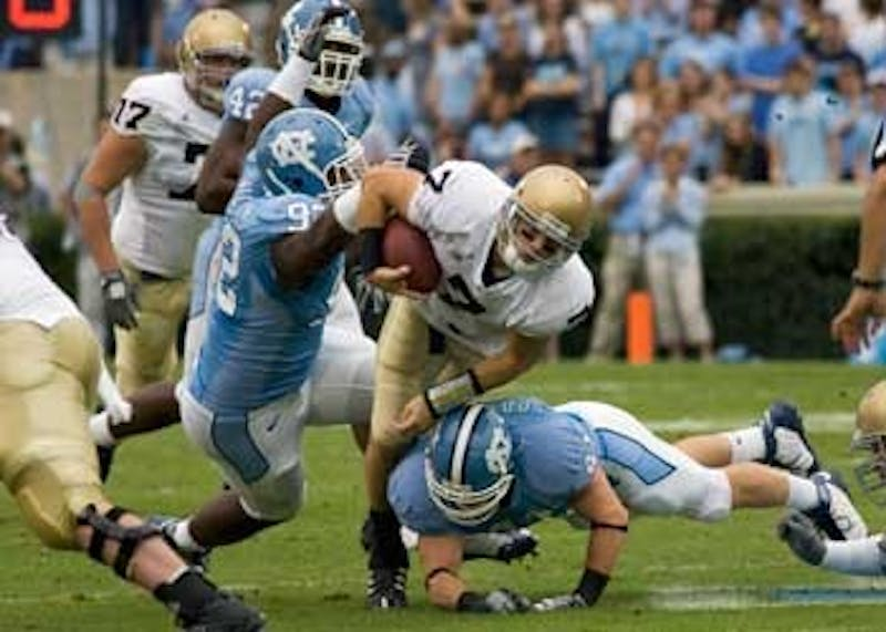 The Tar Heel defense and secondary will have to step up for Boston College quarterback Chris Crane as they did against Notre Dame earlier this month.