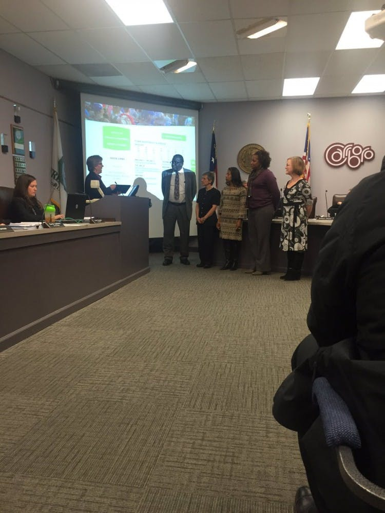 Carrboro Board of Aldermen discussed citizen survey and town budget in Tuesday's meeting