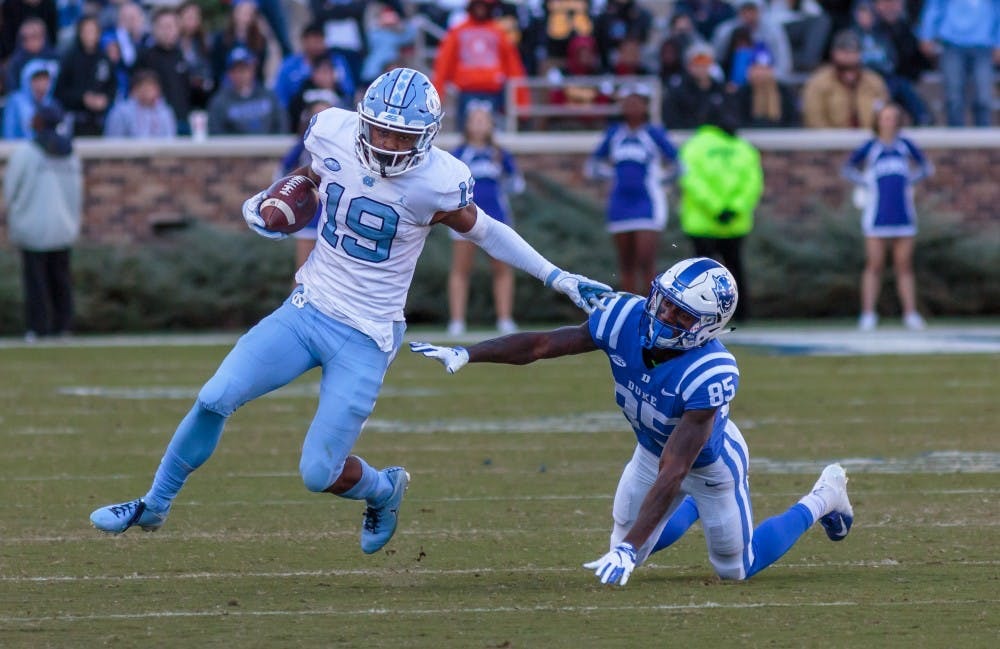 At the wide receiver spot, UNC's Dazz Newsome and Dyami Brown look to become leaders
