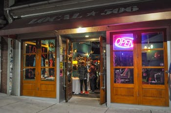 Local 506, located on 506 West Franklin Street, is a music bar that hosts touring musicians and local bands. Photo courtesy of Evan Millican.