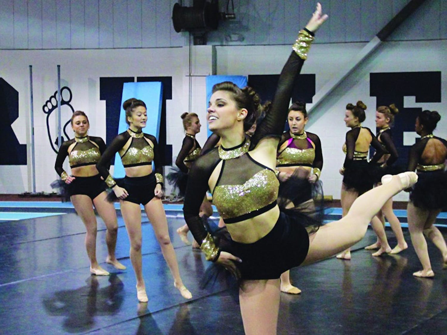Second year senior Taylor Hartzog performs at the UNC Dance Team's spring showcase
