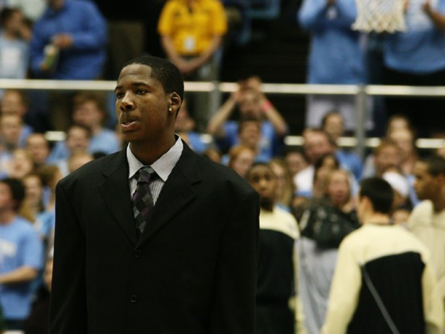 Ed Davis, one of UNC's leading scorers, sat out Wednesday's game with a hurt ankle. DTH/Zach Gutterman