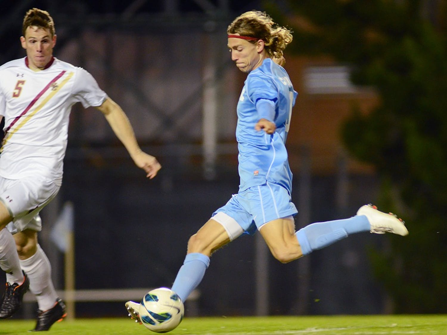 Junior transfer Andy Craven netted the first goal of the game for the Tar Heels in the 20th minute Thursday night at Fetzer Field.