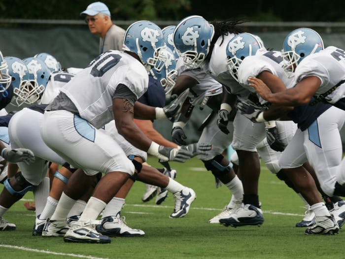 North Carolina kicked off training camp on Aug. 6 amid a cloud of suspicion due to the NCAA investigation. Senior defensive tackle Marvin Austin, who has interviewed by investigators, has seen time on the second team during camp. The uncertainty at his position has led coach Butch Davis to move around Quinton Coples and Michael McAdoo.