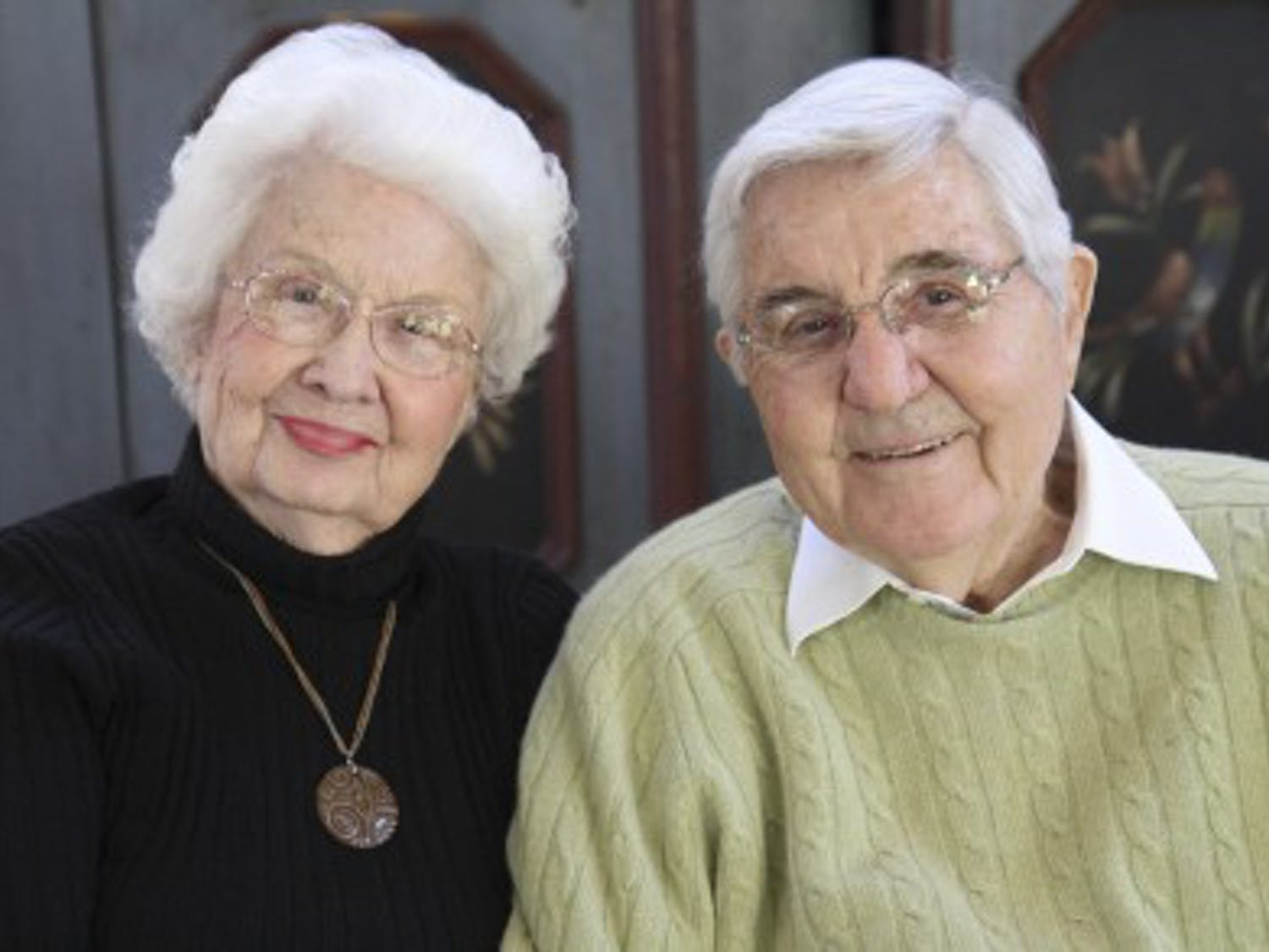Ida Friday poses for a picture with her husband Bill. Both Fridays have since passed away.