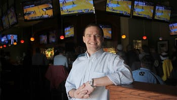 "Brent Walls, a UNC alum, is the general manager of Hickory Tavern, a new restaurant in Carrboro. ""I've been to 24 different countries, all across the world, and this is the place to be."""
