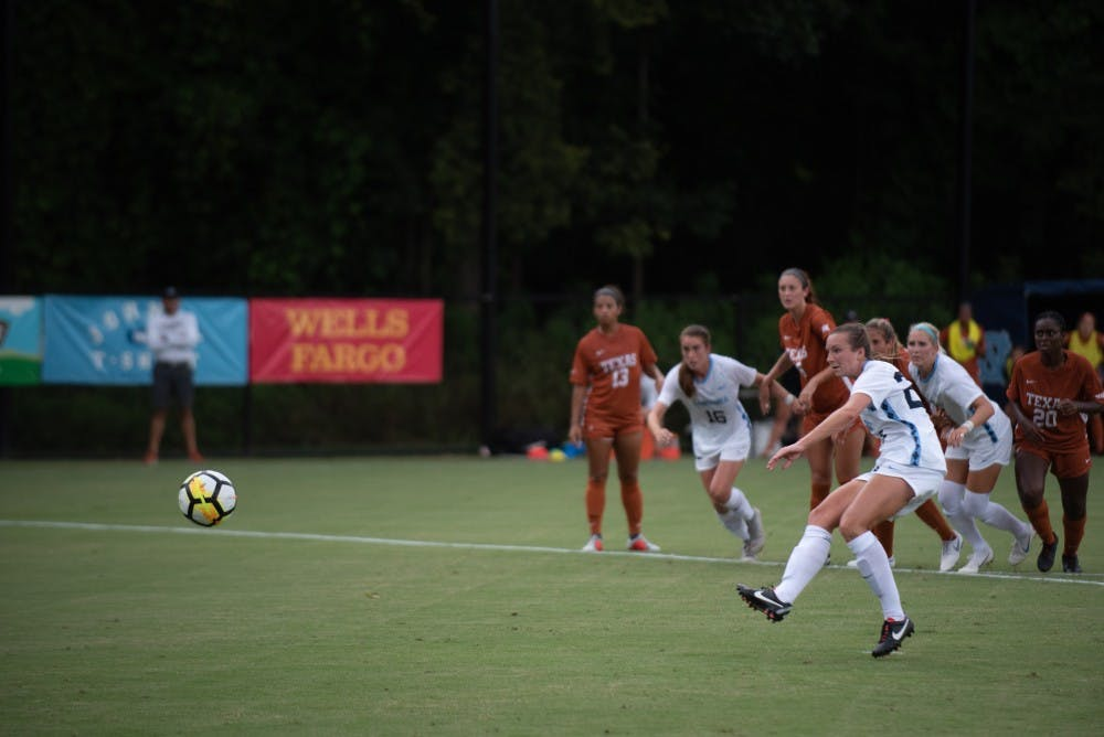 Goalposts prove to be the enemy in UNC women's soccer draw against Texas