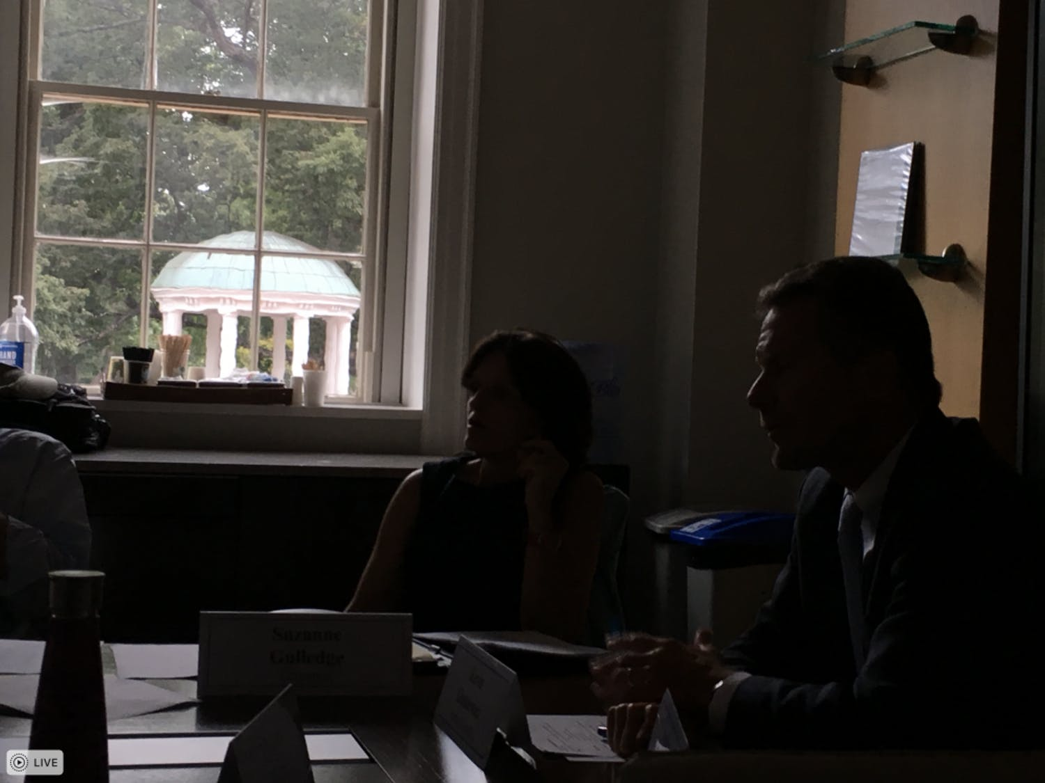 The UNC Faculty Governance Advisory Committee met with interim Chancellor Kevin Guskiewicz on Wednesday.