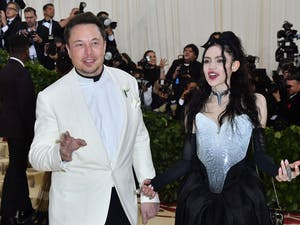 Elon Musk and Grimes arrive for the 2018 Met Gala on May 7, 2018, at the Metropolitan Museum of Art in New York. Photo courtesy of Angela Weiss/AFP via Getty Images/TNS.