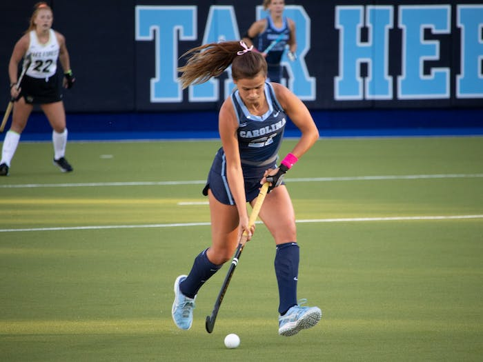 Senior midfielder, Eva Smolenaars, at the game against Wake Forest on Friday, Oct. 30, 2020.