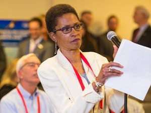 Renee Price, an Orange County Commissioner, speaks at a National Association of Counties Conference. Price was given the M.H. Jack Brock Outstanding County Commissioner Award on Saturday, Aug. 15, 2020. Photo courtesy of the National Association of Counties.