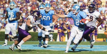 UNC football plays against ECU on September 22, 2012. UNC won the game 27 to 6.