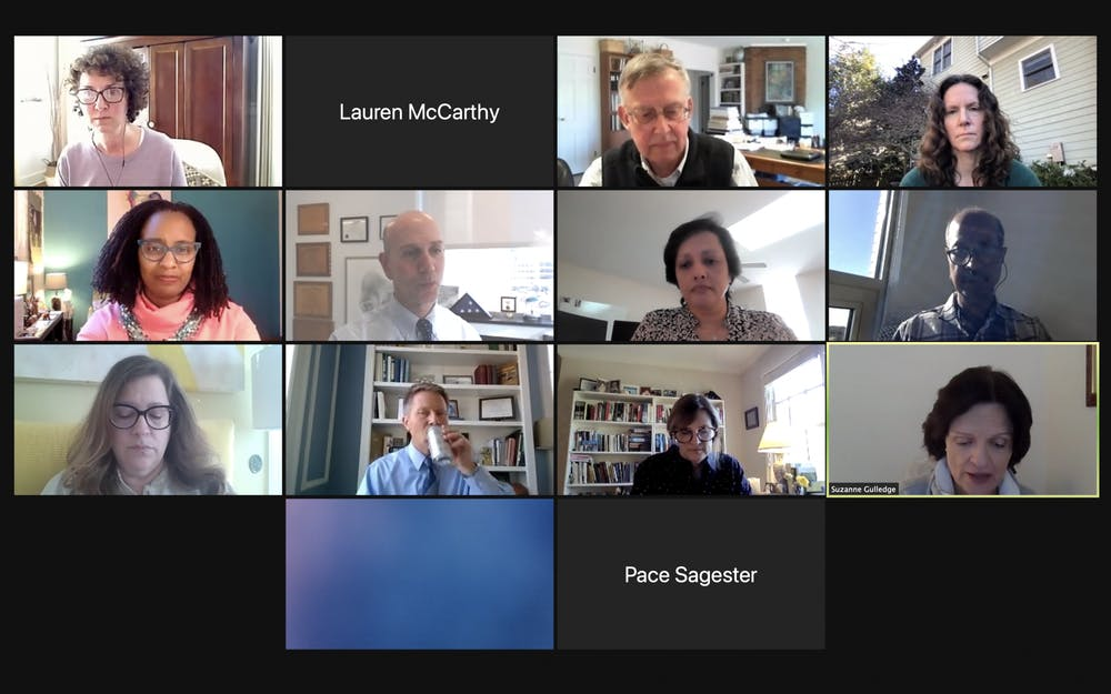 Screenshot from the Advisory Committee meeting on Thursday, Feb. 25, 2021.