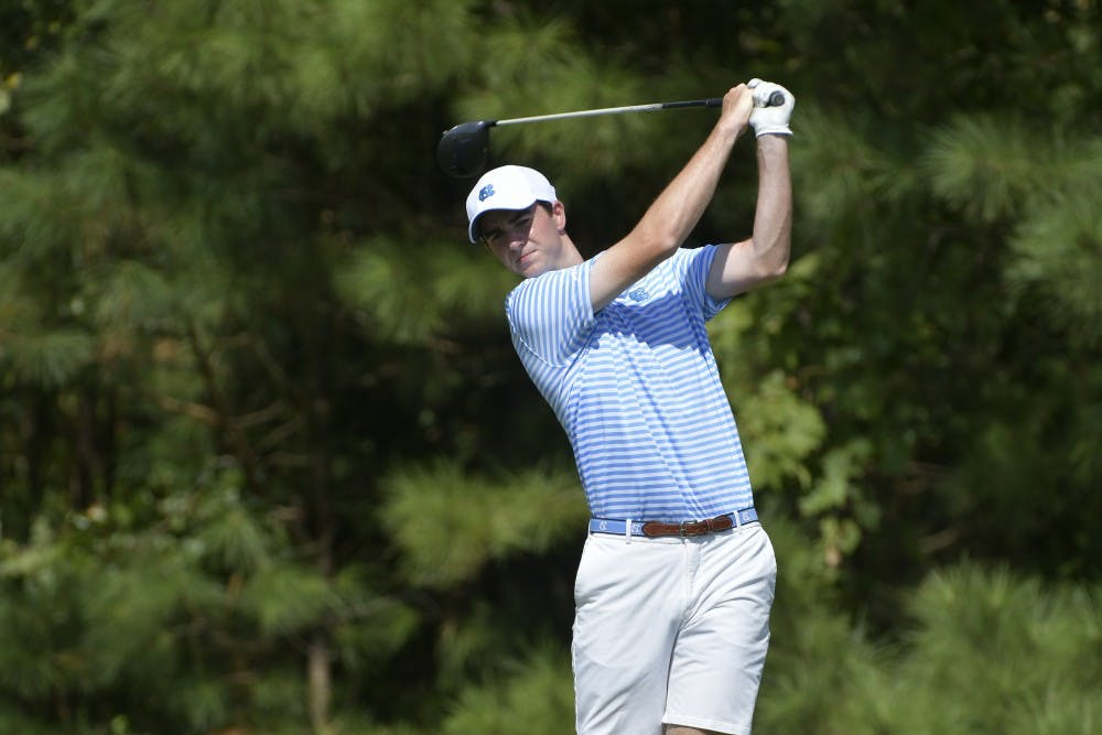 UNC men's golf ties for second in NCAA regional, advances to championship round