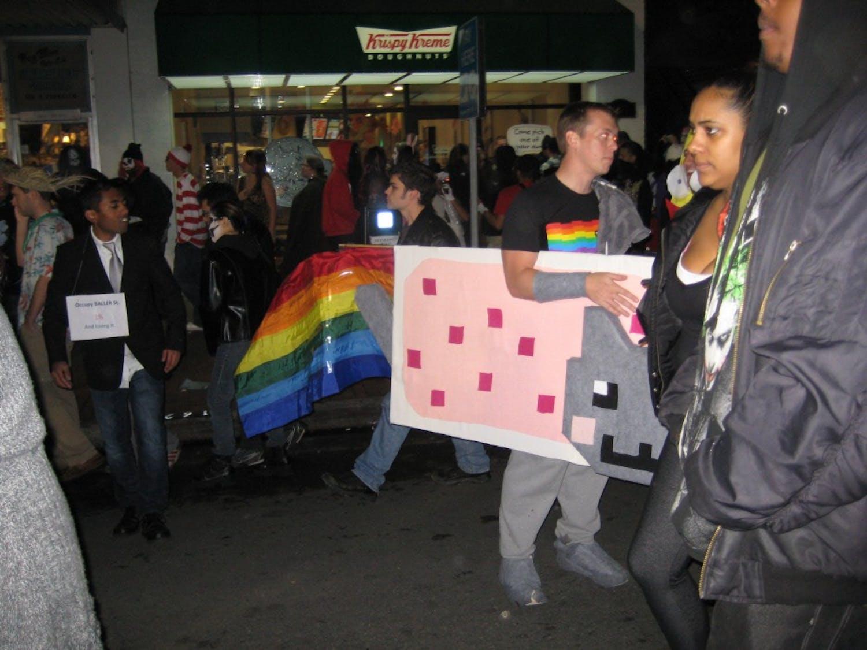 One Franklin Street-goer dressed as Nyan Cat on Halloween last year.