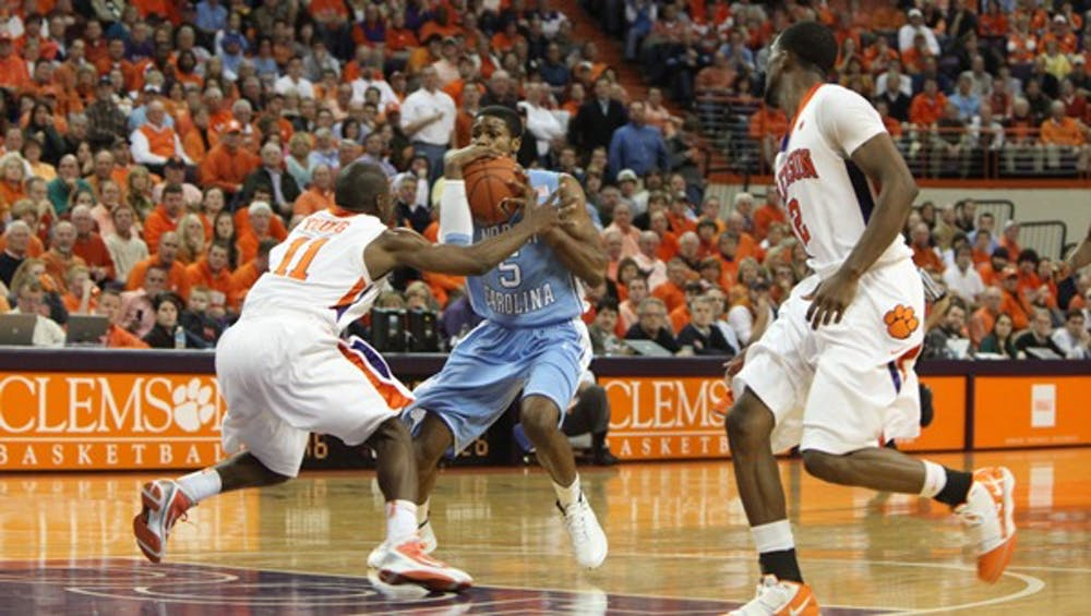 UNC's Dexter Strickland committed three turnovers against Clemson. DTH/Phong Dinh