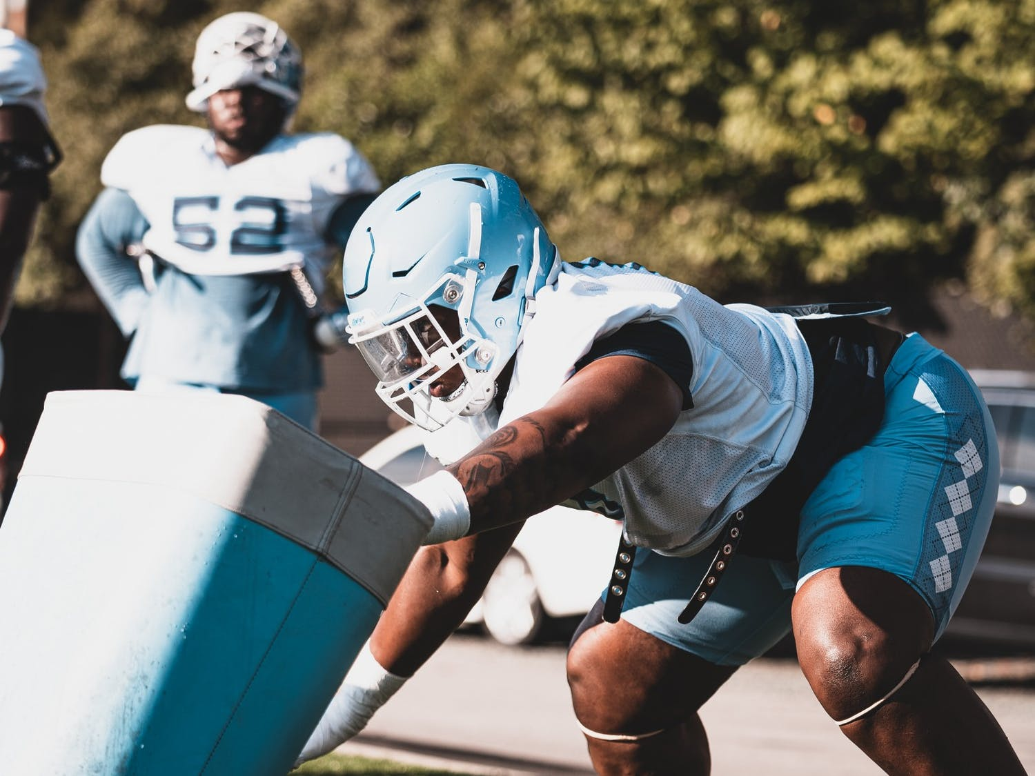 Keeshawn Silver practices at Kenan Stadium. Photo courtesy of UNC Athletics.