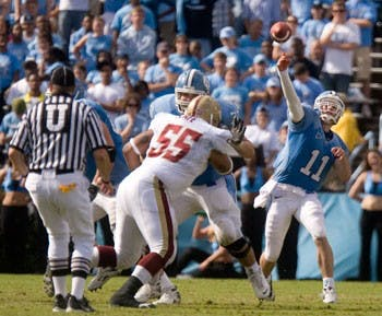 North Carolina junior quarterback Cameron Sexton has settled into the starter role since T.J. Yates went down against Virginia Tech.